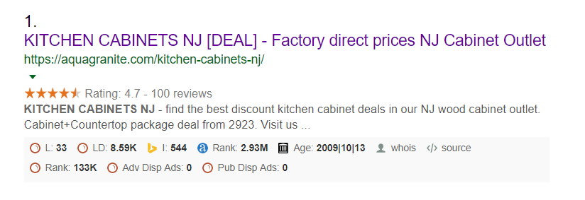 Kitchen Cabinets NJ no1 Place in Google