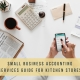 Small business accounting services guide for kitchen stores